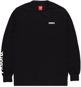 Czarna koszulka z długim rękawem Prosto. z długim rękawem w młodzieżowym stylu