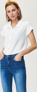 Koszula FEMESTAGE Eva Minge z krótkim rękawem w stylu casual z tkaniny