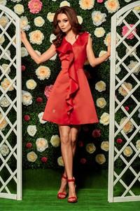 Czerwona sukienka TAGLESS z dekoltem w kształcie litery v mini