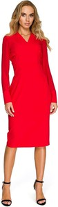 Czerwona sukienka Merg ołówkowa