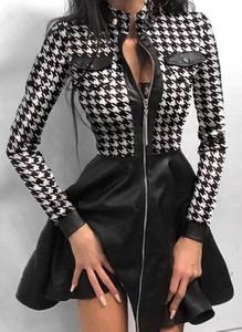 Czarna sukienka Cikelly sportowa w stylu casual