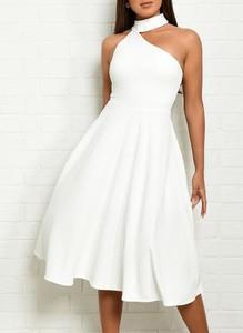 Sukienka Sandbella bez rękawów midi asymetryczna
