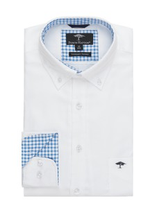 Koszula Fynch Hatton z tkaniny z długim rękawem