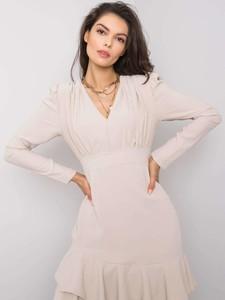 Różowa sukienka Sheandher.pl z długim rękawem mini