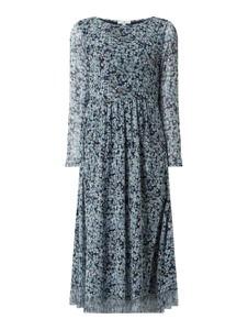 Sukienka Tom Tailor midi z okrągłym dekoltem z długim rękawem