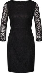 Czarna sukienka Only dopasowana z okrągłym dekoltem mini