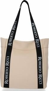 Torebka Roberto Ricci duża na ramię w wakacyjnym stylu