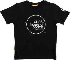 Czarny t-shirt Suns z krótkim rękawem z bawełny