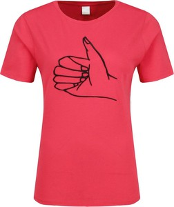 Czerwony t-shirt BOSS Casual z krótkim rękawem w stylu casual
