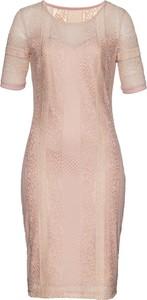 ad16cde0fd85 Sukienka bonprix bpc selection na wesele midi w koronkowe wzory