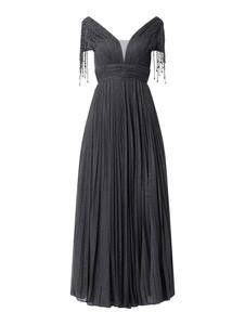 Sukienka Unique w stylu boho z krótkim rękawem z dekoltem w kształcie litery v