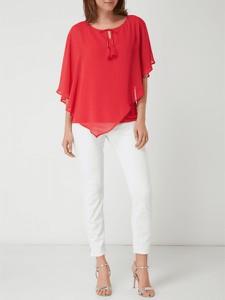 Czerwona bluzka comma, z krótkim rękawem z szyfonu
