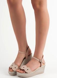 Sandały Czasnabuty z klamrami na średnim obcasie w stylu casual