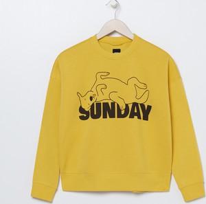 Bluza Sinsay krótka w stylu casual