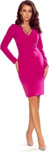 Sukienka NUMOCO dopasowana z długim rękawem