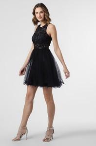 Granatowa sukienka SUDDENLY Princess mini bez rękawów z okrągłym dekoltem