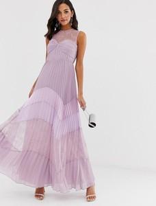 Fioletowa sukienka True Decadence bez rękawów maxi