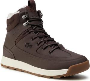 Buty zimowe Lacoste sznurowane w sportowym stylu
