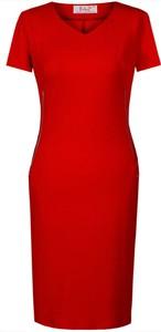 Sukienka Fokus z dekoltem w kształcie litery v ołówkowa z krótkim rękawem