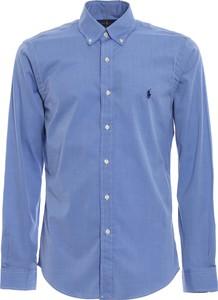 Niebieska koszula Ralph Lauren z długim rękawem z kołnierzykiem button down