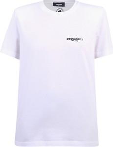 T-shirt Dsquared2 z okrągłym dekoltem z krótkim rękawem