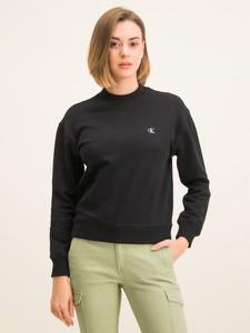 Czarna bluza Calvin Klein krótka w młodzieżowym stylu