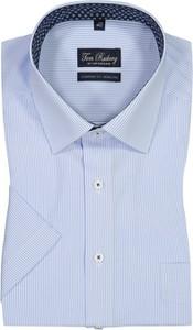 Niebieska koszula Tom Rusborg z krótkim rękawem