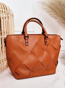 Brązowa torebka NOBO matowa ze skóry ekologicznej w wakacyjnym stylu