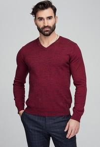 Czerwony sweter Giacomo Conti z tkaniny w stylu casual