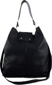 Czarna torebka TrendyTorebki duża na ramię matowa