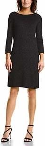 Czarna sukienka amazon.de w stylu casual z okrągłym dekoltem z długim rękawem