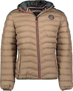 Brązowa kurtka Geographical Norway w stylu casual