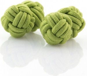 Em Men`s Accessories Spinki supełki zielone 62
