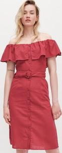 Sukienka Reserved z krótkim rękawem z odkrytymi ramionami mini