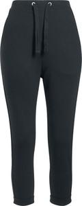 Czarne spodnie sportowe Emp z dresówki w sportowym stylu