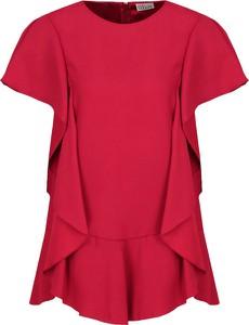 Bluzka Red Valentino w młodzieżowym stylu z okrągłym dekoltem
