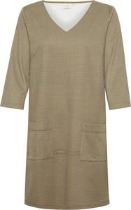 Sukienka Cream mini z długim rękawem
