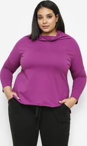 Fioletowa bluzka Freeshion z długim rękawem