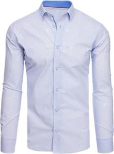 Niebieska koszula Dstreet w stylu casual z bawełny z długim rękawem