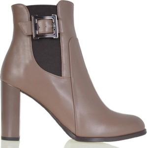 Botki lizard-shoes.com ze skóry na obcasie