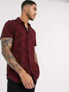 Czerwona koszula New Look z krótkim rękawem