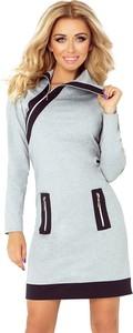 Sukienka NUMOCO w stylu casual z długim rękawem mini