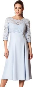 Semper sukienka błękitna agia