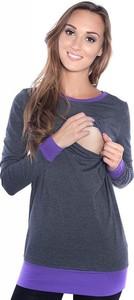 Fioletowa bluzka Inne z bawełny