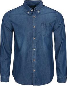 Niebieska koszula Colorado Denim w stylu casual z długim rękawem z bawełny