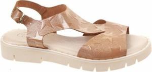 Buty dziecięce letnie Abril Flowers na rzepy dla dziewczynek