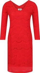 Sukienka Liu-Jo z długim rękawem z dekoltem w kształcie litery v