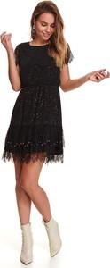 Sukienka Top Secret z okrągłym dekoltem z krótkim rękawem koszulowa