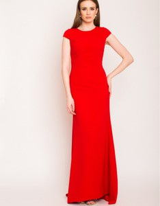 Czerwona sukienka Swing Polish Fashion Concept z krótkim rękawem
