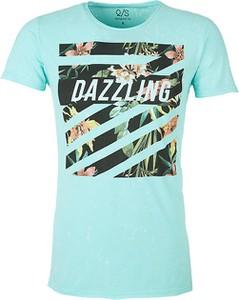 Turkusowy t-shirt Q/s Designed By - S.oliver z krótkim rękawem w młodzieżowym stylu